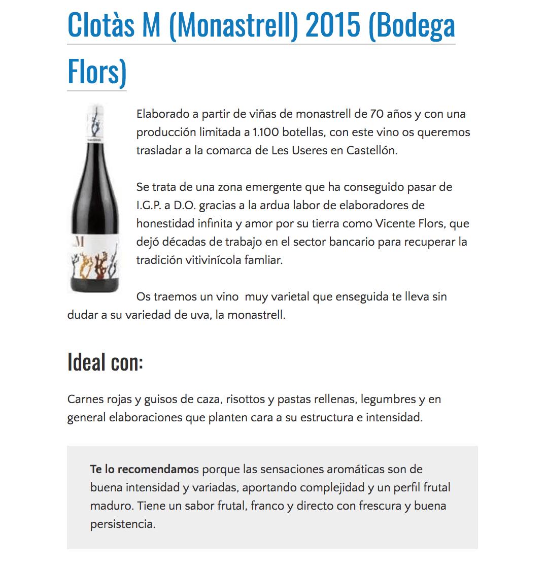 VinObjetivo elige nuestro Cotàs M 2015 como uno de los vinos del año 2018